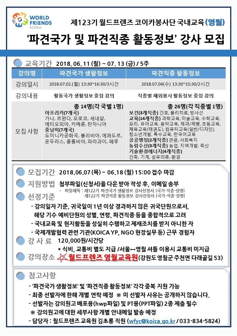 123기 파견국가 및 파견직종별 사례발표 공고문.JPG